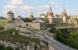 Castle of Kamyanets-Podilsky Royalty Free Stock Images
