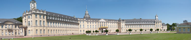 The castle of karlsruhe Stock Images