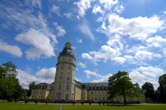 The castle of Karlsruhe, Germany. Back of the castle of Karlsruhe in Germany Royalty Free Stock Photo