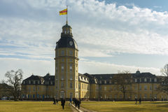 The castle of Karlsruhe, Germany Stock Images