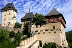 Castle Karlstein. View of the Czech castle Karlstein near The Prague Royalty Free Stock Photos