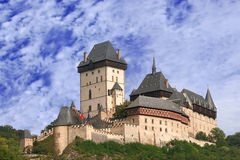 Castle Karlstein. View of the Czech castle Karlstein near The Prague Stock Image