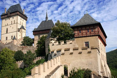 Castle Karlstein. View of the Czech castle Karlstein near The Prague Royalty Free Stock Photography