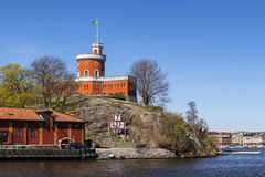 Castle on Kastellholmen, Stockholm Stock Photos