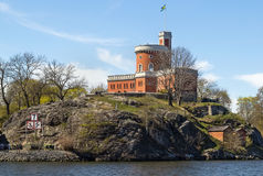 Castle on Kastellholmen, Stockholm Royalty Free Stock Photos