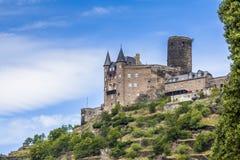 Castle Katz Landscape on the Rhine Germany Royalty Free Stock Photography