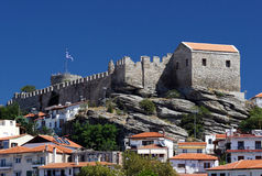Castle in Kavala royalty free stock photos