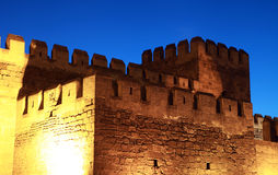 The Castle of Kayseri at night, Turkey. Stock Photos