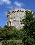 Castle keep. The keep of Windsor Castle, Windsor, UK Royalty Free Stock Photos