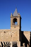Castle keep, Antequera, Andalusia, Spain. Castle keep tower (torre del homenaje) and battlements, Antequera, Malaga Province, Andalusia, Spain, Western Europe Royalty Free Stock Image