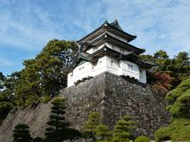Castle keep at Imperial Palace in Tokyo Japan Royalty Free Stock Photos