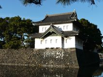 Castle keep at Imperial Palace in Tokyo Japan Stock Images