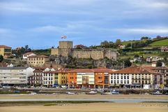 Castle of the King, built in the Early Middle Ages, Cantabria, N Royalty Free Stock Photo