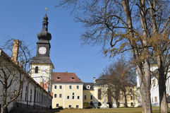 Castle of Kinsky in Zdar nad Sazavou,Czech, Royalty Free Stock Photography