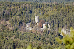 Castle Klamm. View to the castle Klamm in the forest area of Obsteig in Tirol, Austria Royalty Free Stock Image