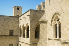 Castle of the knights hospitlar in Rhodes, Greece Royalty Free Stock Photos