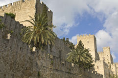 Castle of the Knights at Rhodes Greece Stock Images