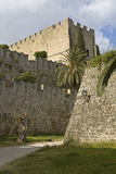 Castle of the Knights at Rhodes Greece Stock Photos