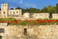Castle of the Knights at Rhodes island Stock Image