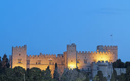 Castle of the Knights at Rhodes island, Greece Royalty Free Stock Photos