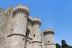 Castle of the Knights at Rhodes island, Greece Royalty Free Stock Photo