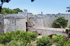 Castle of the Knights at Rhodes island, Greece Royalty Free Stock Images