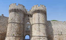 Castle of the Knights at Rhodes island, Greece Royalty Free Stock Image