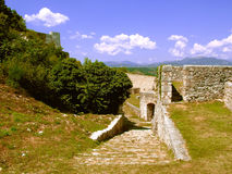 Castle in Knin in Croatia. Ruins of castle in Knin in Croatia - the medieval capital of the Kingdom of Croatia and in the years 1991 - 1995 the capital of the Stock Image