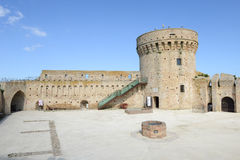 Castle known as Mastio cilindrico della Rocca at Acquaviva Picen Royalty Free Stock Photos