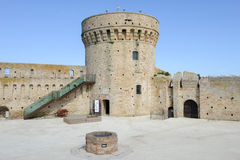 Castle known as Mastio cilindrico della Rocca at Acquaviva Picen Stock Image