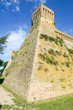 Castle known as Mastio cilindrico della Rocca at Acquaviva Picen Stock Photos