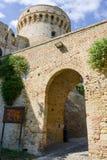 Castle known as Mastio cilindrico della Rocca at Acquaviva Picen Royalty Free Stock Photo