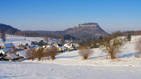 Castle Koenigstein in Elbe sandstone mountains Stock Images