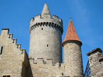Castle Kokorin. The defensive tower of castle Kokorin, Czech republic Royalty Free Stock Images