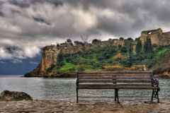 The castle of Koroni, southern Greece Royalty Free Stock Image