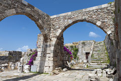 Castle at Kos island in Greece Royalty Free Stock Photography