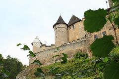 Castle Kost στο βράχο στοκ εικόνες