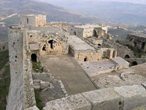 The castle of Krak des Chevaliers Stock Images
