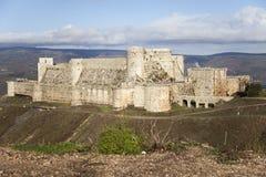 Castle Krak des Chevaliers Stock Afbeeldingen
