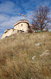 Castle of Krasna Horka, Roznava, Slovakia. Current state to 28.11.2013 royalty free stock images