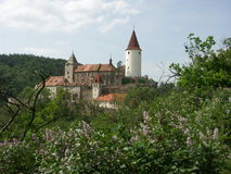 Castle Krivoklat. Mediaeval royal castle Krivoklat - Central Bohemia Royalty Free Stock Image