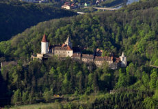 Castle Krivoklat. Castle house in czech republic air photo Stock Photography