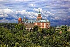 Castle Ksiaz σε Walbrzych στοκ εικόνες