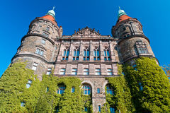 Castle Ksiaz. The south face of Castle Ksiaz Royalty Free Stock Images