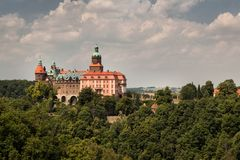 Castle Ksiaz in Walbrzych Royalty Free Stock Images