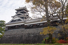 Castle in Kumamoto - view in autumn Stock Image