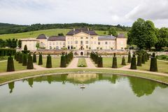 Castle of la Chaize in Beaujolais Stock Image