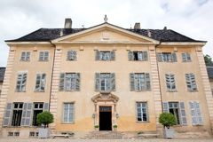 Castle of La Chaize in Beaujolais, France Royalty Free Stock Images