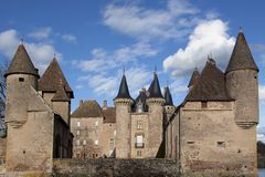 Castle of La Clayette Royalty Free Stock Photos