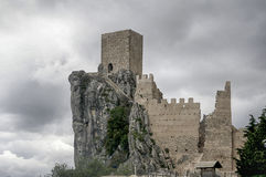 Castle of La Iruela in the province of Jaen, Andalusia royalty free stock photography